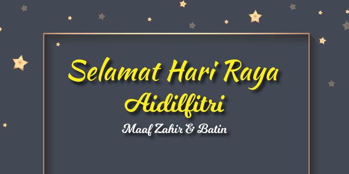 Selamat Hari Raya Aidiffitri